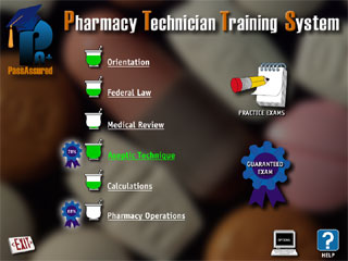Pass Assured Pharmacy Technician Training System CD